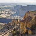 Smith Rock from the top of Burma Road.- Gray Butte Loop via Burma Road