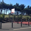 Basketball and tennis courts at the Pacific Way beach entrance.- Gearhart Beach