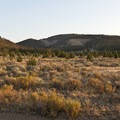 The view to the west into the Crooked River National Grassland- Skull Hollow Campground