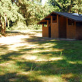 Restrooms near Fir Grove Picnic Area.- Molalla River State Park
