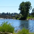 Looking at Mckay Park from Millers Landing Park.- Deschutes River Float