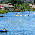 Floating through the Old Mill District.- Deschutes River Float