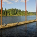 Champoeg State Park day use marina on the Willamette River.- Champoeg State Park