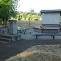 Champoeg State Park Campground amphitheater.- Champoeg State Park Campground