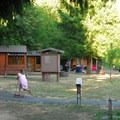 Cabins in the B Loop.- Champoeg State Park Campground