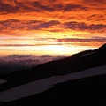 Mount Adams, South Climb: Sunset from Lunch Counter.- Mount Adams: South Climb
