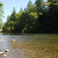 North Santiam River from Packsaddle County Park.- Packsaddle County Park