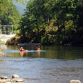 North Santiam River and the USACE Minto Fish Collection Facility.- Packsaddle County Park
