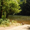 The boat ramp at Packsaddle County Park.- Packsaddle County Park