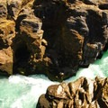 Niagara County Park basalt chasm.- Niagara County Park