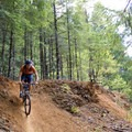 The trails pass some technical trail features and man-made courses..- Dallas Trails