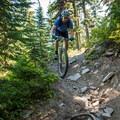 Tight turns on the Gunsight Trail.- Gunsight Ridge Trail