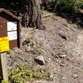 The trail ends right at Highway 35.- Gunsight Ridge Trail