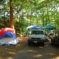 Typical campsite.- Detroit Lake State Park Campground