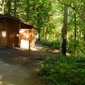 Restroom and shower facilities.- Detroit Lake State Park Campground