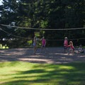 Vollyball court outside of F Loop.- Detroit Lake State Park Campground