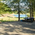 The picnic area near the boat ramp at Hoover Campground.- Detroit Lake, Hoover Campground
