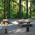 One of several group campsites.- Detroit Lake, Hoover Campground