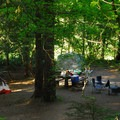 Typical campsite.- Detroit Lake, Hoover Campground