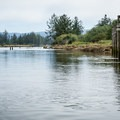 Higher tide on the North Fork of the Nehalem River.- North Fork of the Nehalem River