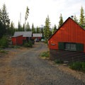 Olallie Lake Resort cabins.- Olallie Lake Resort