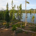 View from cabin 6.- Olallie Lake Resort