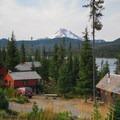 Olallie Lake Resort and Mount Jefferson (10,495').- Olallie Lake Resort