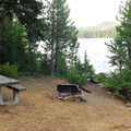 Typical campsite at Paul Dennis Campground with Olallie Lake views.- Paul Dennis Campground