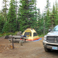 Typical campsite.- Paul Dennis Campground