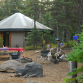 Yurt site at Paul Dennis Campground.- Paul Dennis Campground