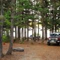 Campsite along the shore.- Camp Ten Campground