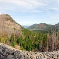 A panoramic view looking north toward Pyramid Butte (6,059').- Jefferson Park Hike via Park Ridge