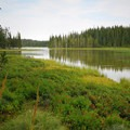 Breitenbush Lake from the campground.- Breitenbush Lake Campground