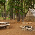 Typical campsite.- Breitenbush Lake Campground