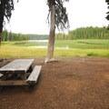 Walk-in campsite along the shoreline.- Breitenbush Lake Campground