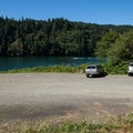 Parking at the northern boat ramp on North Fork Reservoir.- North Fork Reservoir