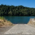 The northern boat ramp on North Fork Reservoir.- North Fork Reservoir