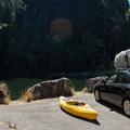 Parking at The Culvert.- North Fork Reservoir