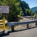 """The subtle turn to """"The Culvert"""" access area.- North Fork Reservoir"""