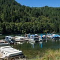 The marina at Promontory Park.- Promontory Park