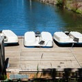 Peddle-wheel boats for rent.- Promontory Park