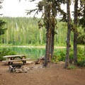 Typical campsite.- Horseshoe Lake Campground
