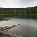 Horseshoe Lake from the campground.- Horseshoe Lake Campground