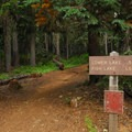 Trailhead to Lower Lake and Fish Lake at the campground.- Lower Lake Campground