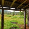 Olallie Meadow from the old cabin/shelter.- Olallie Meadow Campground