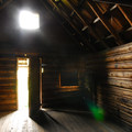 The old cabin interior at Olallie Meadow Campground.- Olallie Meadow Campground