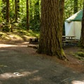 "A typical ""yome"" site.- Promontory Park Campground"