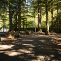 Typical site.- Promontory Park Campground
