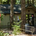 Registration and campground host.- Promontory Park Campground