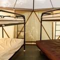 A yome interior.- Promontory Park Campground